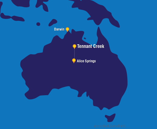 Tennant Creek in the heart of the Northern Territory